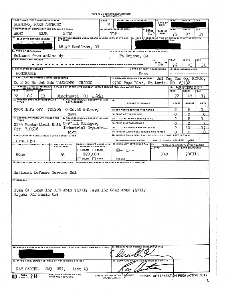 ABT owner's DD Form 214