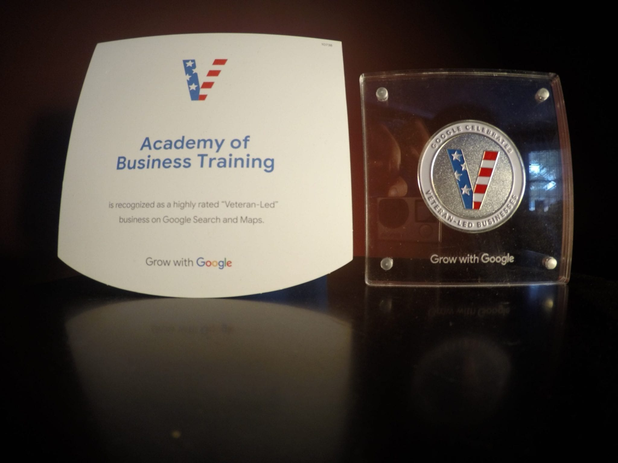 Google Recognizes the Academy of Business Training as a Highly Rated Veteran Led Business